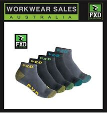 Mens FXD  SK-3 Socks 5 Pack Ankle Sock Multi Pack Workwear