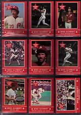 1983 Star Company MIKE SCHMIDT SET ( 15 CARDS SET )!