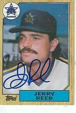 JERRY REED SIGNED 1987 TOPPS #619  - SEATTLE MARINERS