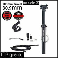Bike Dropper Seatpost 30.9/31.6mm 100mm Travel Hydraulic Remote Seat Post