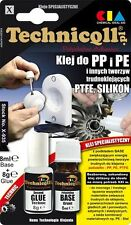 Technicqll 2 x 8 ml PP PE PTFE Polypropylene Polyethylene Adhesive Glue X935