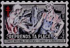 FRANCE-GRANDE VIGNETTE 1957- 200 FRANCS. TUBERCULOSE. ANTITUBERCULEUX.