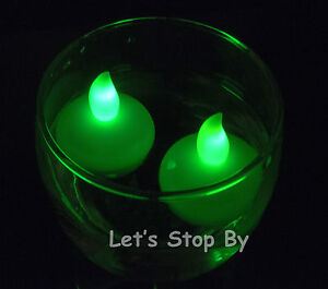 12 Flameless Floating waterproof LED tealight Candle Battery operated tea lights