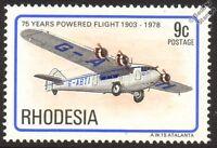 Armstrong Whitworth ATALANTA AW.15 Aircraft Mint Stamp (1978 Rhodesia)