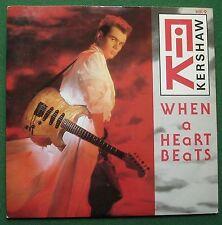 """Nik Kershaw When A Heart Beats 7"""" Single"""