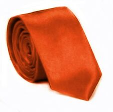 Slim Krawatte Orange Edel Satin Schlips klassische Krawatten Orange Tie