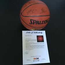 Lebron James 2004-05 Cleveland Cavaliers Team Signed NBA Basketball With JSA COA