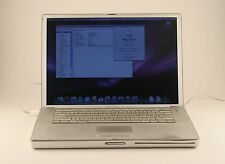 "Apple PowerBook G4 1.25GHz 1GB RAM 75GB HDD Mac OS X 10.5.8 15"" Laptop; 411615"