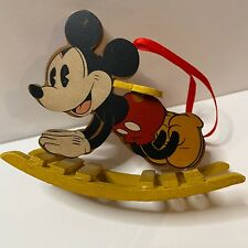 VINTAGE Mickey Mouse Rocking Horse Christmas Ornament