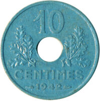 COIN / FRANCE / 10 CENTIMES 1942   #WT5835