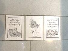 "Set Of 3 Dumbo Nursery Prints (Unframed). 8.4""x12"""