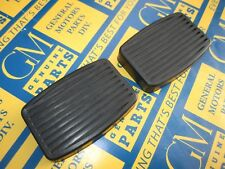 1938-1961 Hudson, Nash, Rambler Brake Pedal Covers Black. Pair