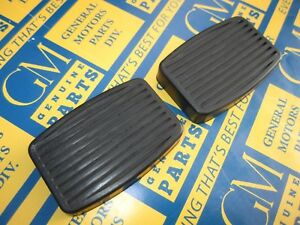 1938-1961 Hudson, Nash, Rambler Brake Pedal Covers Black. Pair