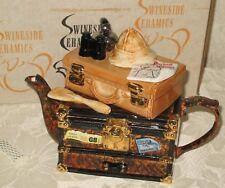 New ListingSwineside Ceramics Tea Pot Travellers Safari Teapot - Made in England - Mib