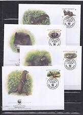 Georgia 1999 - FDC - Dieren / Animals / Tiere  (WWF / WNF)