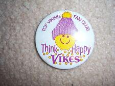 MINNESOTA VIKINGS VINTAGE BUTTON 1970S TCF