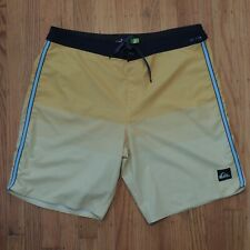 Quiksilver Highline Boardshorts 36 Yellow Dryflight Water Repelent 4 way Stretch