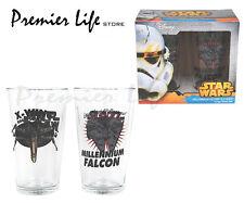 Star Wars Conjunto de 2 Vasos Grandes-Star Wars Nave Espacial Diseño Bebida Gafas