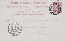 Belgium 1893 10c Prepaid card Credit Lyonnai Bruxelles Legislatifj to Berlin VGC