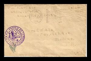 DR JIM STAMPS US WWI ARMY POST OFFICE COVER SOLDIERS MAIL FLAG CANCEL 1918