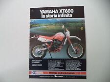 advertising Pubblicità 1987 MOTO YAMAHA XT 600 4V 4 VALVES