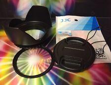 FLOWER HOOD+UV FILTER+LENS CAP TO Fuji Fujifilm X-A2 X-E1 X-E2 XE2 X-T1 X-T10