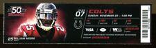 2015 Colts v Falcons Ticket NFL 11/22/15 William Moore 37839