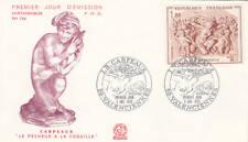 France #1274 Carpeaux Nude Sculpture Triumph of Flora Cacheted FDC 1970