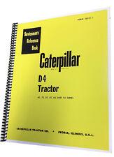 CAT D4 DOZER Technical Service Shop Manual Crawler Tractor BullDozer Caterpillar