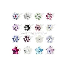 Hypoallergenic Blomdahl medical plastic daisy flower stud earrings nickel free