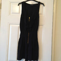Miss Selfridge Black All In One Playsuit Size 8