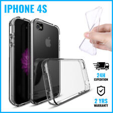 Transparent Cas Clear Gel Soft Flexi Case Cover Etui Coque Hoesje For iPhone 4S