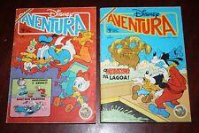 Lot 2 Disney Adventure - portuguese comics 1989