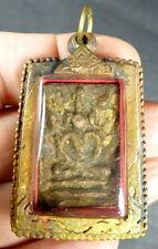Thai Buddha OLD PHRA SOMDEJ Amulet blessed in Wat Phra Kaeo Temple Bangkok