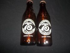 Vintage 1976  Coca-Cola 75th. Anniversary 10 oz. Bottle brown/amber w/ Lid empty