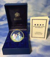 Rare Halcyon Days Disney Cinderella & Fairy Godmother Enamel Trinket Box EUC