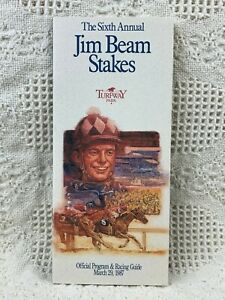 1987 Jim Beam Stakes Program from Turfway Park Perfect Condition