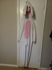 Adult Deluxe Easter Bunny Costume Full Zip Costume hoodie. One piece, L-XL