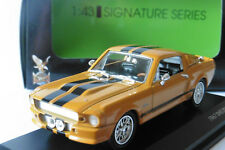 FORD SHELBY GT500 ELEANOR 1967 ORANGE YATMING SIGNATURE 43202 1/43 BLACK STRIPES