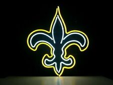 "New Orleans Saints Neon Light Sign 17""x14"" Beer Cave Gift Lamp Real Glass"