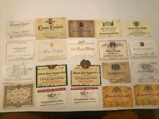 More details for rare cote d'or wine labels job lot 20 x david molyneux-berry collection (b)