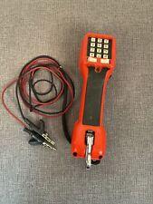 Vintage Harris Dracon Ts21 M192 1 Test Set Handset Linemans Dial Tonepulse Red