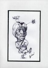 CAPRICHOS DEL FUEGO Original Art Drawing Cuba Cuban FERNANDO GODERICH FABARS 15