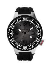 POSEIDON Unisex-Armbanduhr L Analog Silikonband UP00400 Schwarz UVP 119,- €