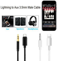 1M Lightning to Aux 3.5mm Speakers Car Audio Male Adapter Cable For Apple iPhone