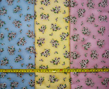 3 Fat Quarters Bundle Floral Quilt Fabric by Robert Kaufman - 100% Cotton