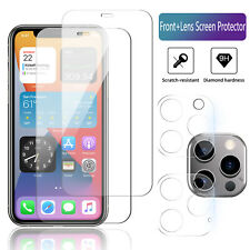 For iPhone 12 Mini,Pro Max Tempered Glass Screen Protector/Camera Lens Protector