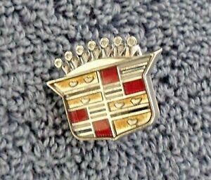 """NEW NOS OEM 76-78 Eldorado Models Chrome Dash Ornament Crest Emblem .75"""" Tall"""