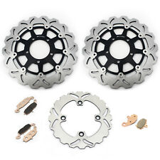 Front Rear Brake Rotors Discs+Pads For Kawasaki Ninja 650 ER-6F ER-6N 2006-2014
