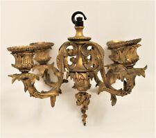 Vintage Gilt Metal Hanging Candelabra with Four Arms   - Thames Hospice
